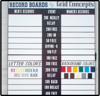 Board Showcasing Different Letter and Background Colors